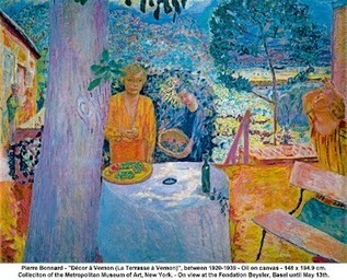 Painting by Pierre Bonnard 'Decor a Vernon' This shows his… | Fine Art at Google+ | Scoop.it