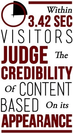 Best Content Marketing Tip Ever: How Appearance Determines The Credibility of Your Content | Content Marketing | Scoop.it