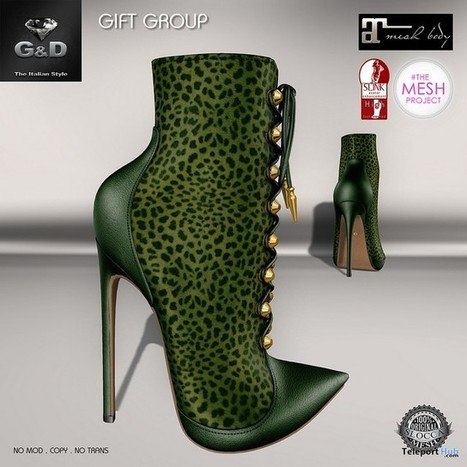 Ankle Boots Victoria Musk Group Gift by G&D The Italian Style | Teleport Hub - Second Life Freebies | Second Life Freebies | Scoop.it