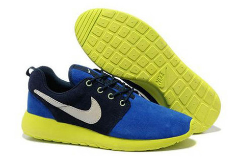 Nike Roshe Run Power Blue Dark Blue Yellow Mens Shoes | new and share style | Scoop.it