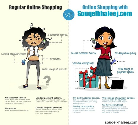 #Online_Shopping with Souqelkhaleej.com | Infographics | Scoop.it