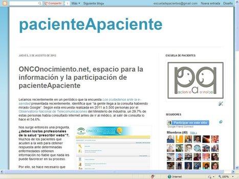 Blog #pacienteApaciente | Blogs Escuela de Pacientes | Scoop.it
