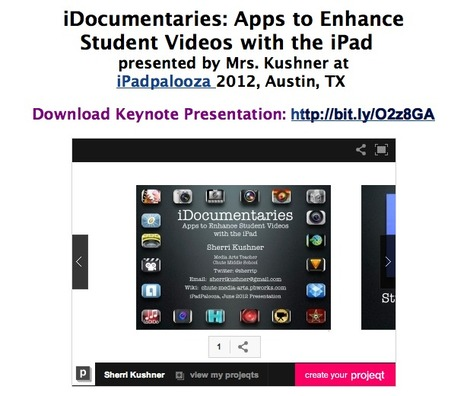 Welcome to Chute Media Arts Wiki / iDocumentaries using Apps | iPads in high school | Scoop.it