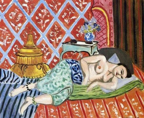Oil painting reproduction: Henri Matisse A Nude Lying On Her Back 1927 - Artisoo.com | famous paintings gallery | Scoop.it