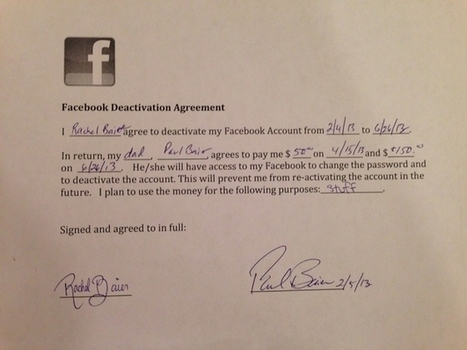 Father Pays His Daughter $200 To Quit Facebook | Seo, Social Media Marketing | Scoop.it
