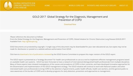 Global Strategy for the Diagnosis, Management and Prevention of COPD, Global Initiative for Chronic Obstructive Lung Disease (GOLD) 2017 | Dr. Josep Morera Prat - Neumólogo | Scoop.it