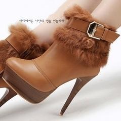 Wholesale Brown Apricot Grey Fur Belt Buckle Ankle Boots UK Kvoll X55444 Shoes [X55444 X55440 X55442]- US$29.17 - www.wholesale85.com | Wholesale Women Shoes | Scoop.it