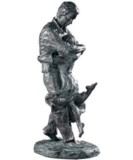 """20""""h Welcome Home Statue Oil Rubbed Bronze Patina 