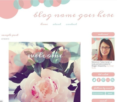 Where to Get Cool Blogger Templates for Fashion Bloggers: Jelly - IFB | Fashion blogger style | Scoop.it