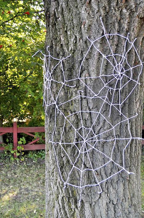 Yarn Spiderwebs DIY | Fiestas & Fêtes pour les petits | Scoop.it