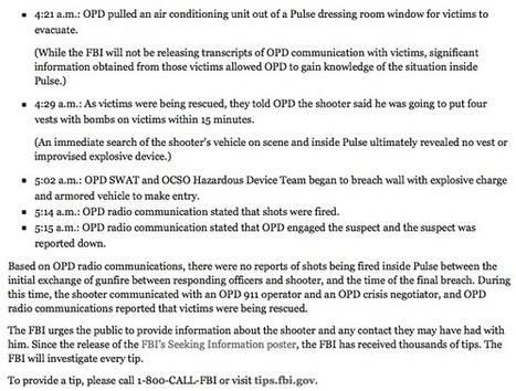 Tuerie d'Orlando : l'équipe tactique d'intervention de la police (SWAT) était-elle impliquée? | Actualités, influences, stratégies | Scoop.it