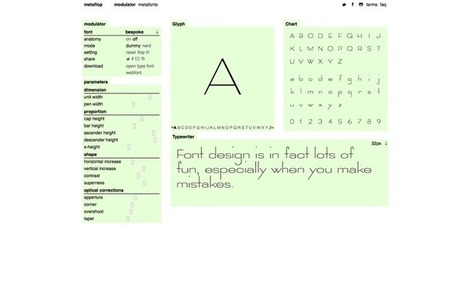 A Simple Web App That Makes Designing Your Own Font A Cinch | Creative Feeds | Scoop.it