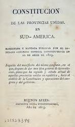 CONSTITUCIÓN de las PROVINCIAS UNIDAS DE SUDAMÉRICA ... | Historia Argentina 1810-1820 | Scoop.it