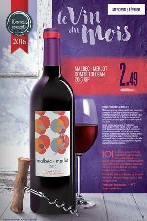 La promo du jour : Lidl propose un assemblage malbec-merlot en vin du mois. | Verres de Contact | Scoop.it