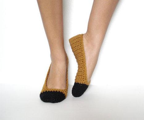 Ballet Slippers Crocheted   PKC Crochet   Scoop.it