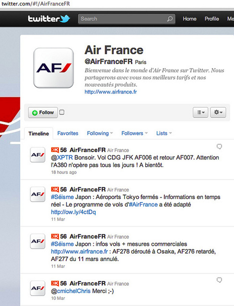 Air France : 38.000 followers et un Community manager en congé le dimanche | Etudes en marketing, Haute Ecole ISE : Vansnick R. | CommunicationDeCrise | Scoop.it