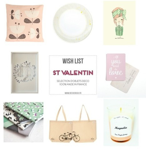 Shopping : Ma wishlist 100% Made in France pour la St Valentin… | décoration & déco | Scoop.it