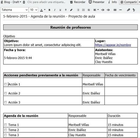 Cómo eliminar reuniones improductivas con Evernote   Evernote & Educació   Scoop.it