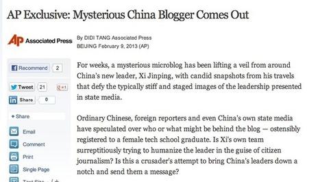 Le numéro un chinois sur le réseaux sociaux, la fin d'un mystère - Le Monde | Community Management et Curation | Scoop.it