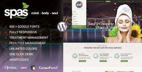 Spas | Health and Beauty WordPress Theme (Health & Beauty) - Creative WordPress Theme | Creative Wordpress Theme | Scoop.it