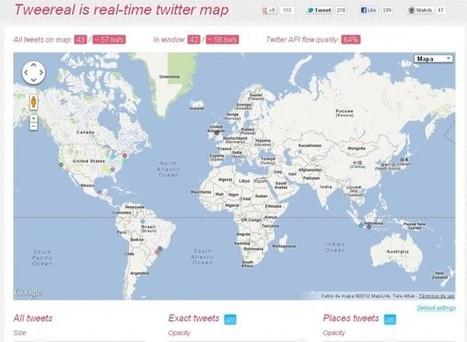 Consulta la actividad de Twitter en tiempo real vía Google Maps ... | #GoogleMaps | Scoop.it