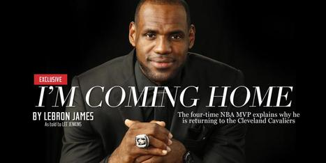 LeBron James announces return to Cleveland Cavaliers - NBA - SI.com | GetAtMe | Scoop.it