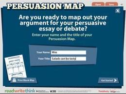 Persuasion Map - ReadWriteThink | Literacy | Scoop.it