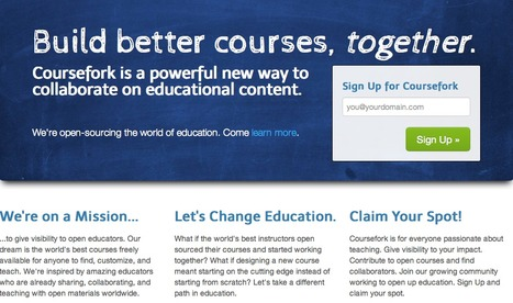 Coursefork™ — better education through collaboration. | Tech in teaching | Scoop.it