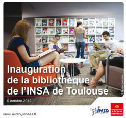 Inauguration de la nouvelle bibliothèque de l'INSA | Kansei, la web TV de l'architecture | Scoop.it