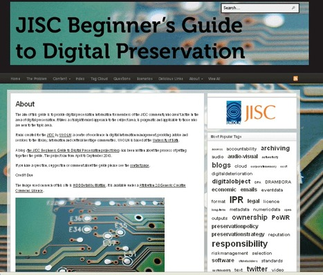 Launch of the JISC Beginner's Guide to Digital Preservation | Cultural heritage protection | Scoop.it
