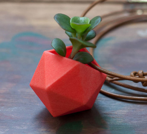 Wear a mini 3D-printed container garden as a necklace | Radio Show Contents | Scoop.it