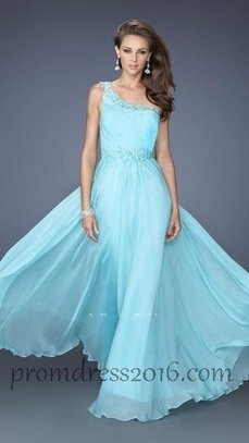 One Shoulder Light Mint A Line Full Length Prom Dresses [PD201600441] - $174.00 : Prom Dresses | Prom Dresses 2016 | girlsdresseshop | Scoop.it