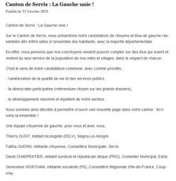 Départementales 2015 – Canton de Serris | Val d'Europe | Scoop.it