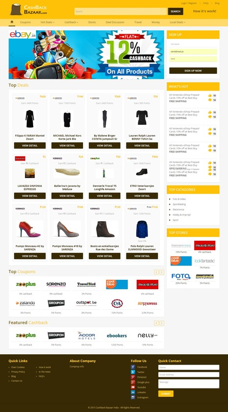 Cashback Bazaar India is an interactive Cashback Project Designed & Developed by iLead Digital | Affiliate Website CMS Design and Development | Scoop.it