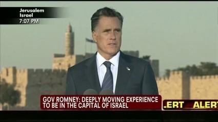 Le Québec de demain: Le discours de Mitt Romney, à Jérusalem!!! | Am Israël Hai | Scoop.it
