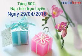 Mobifone khuyến mãi 50% nạp tiền trực tuyến ngày 29/4/2016 | Dịch vụ di động | Scoop.it