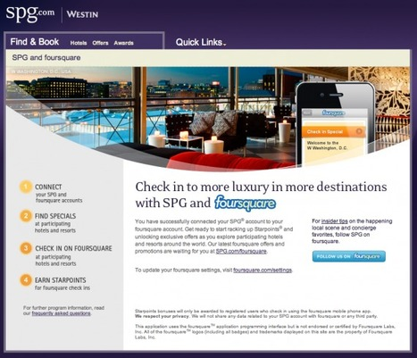 Starwood Hotels now offering bonus points for foursquare checkins | Travelled | Scoop.it