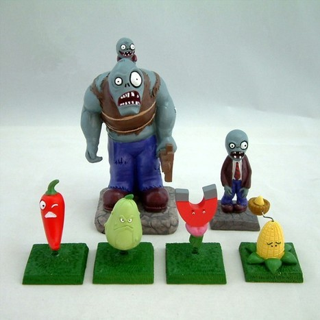 Set Of 6 PVZ Models Toy Car Accessorize Plants Vs by allwithhand | All Geeks | Scoop.it