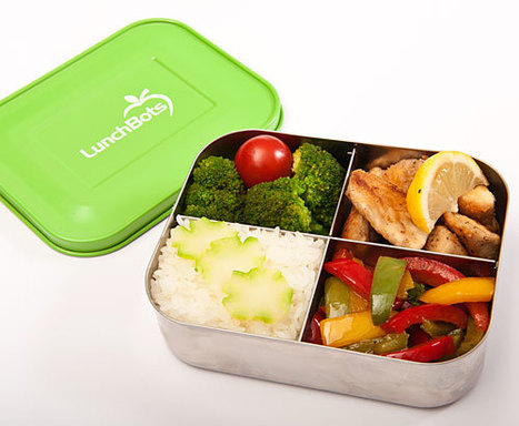 Bento box review: The all-stainless steel LunchBots Quad   Just Bento   Bento Lunch Box   Scoop.it
