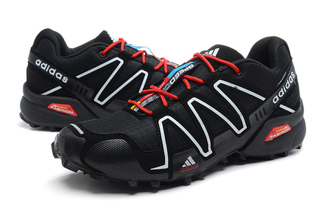 Adidas Salomon Mens Black White Red Shoes | share list | Scoop.it