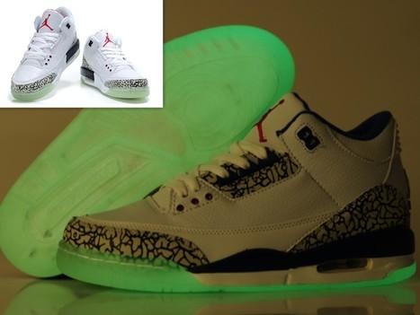Air Jordan 3 Glow In The Dark White Cement Grey Hot Sale Online | Cheap Glow In The Dark Air Jordans | Scoop.it