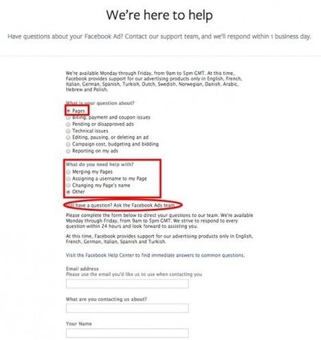 Comment Contacter Facebook ? | Médias sociaux et tout ça | Scoop.it