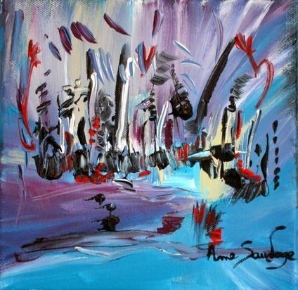 peinture abstraite contemporaine acrylique d'ame sauvage | Peinture abstraite contemporaine | Scoop.it