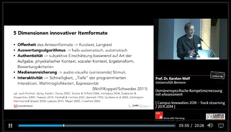 lecture2go.uni-hamburg.de - CI 2014 / eLearning - Domänenspezifische Kompetenzmessung mit eAssessment | E-Assessment - Online Learning Assessment | Scoop.it