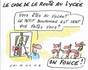 Le code de la route au lycée | Baie d'humour | Scoop.it