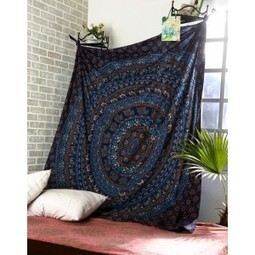 Cotton Blue Printed Mandala Tapestry for Home Decor | Fashion & Accessories | Scoop.it