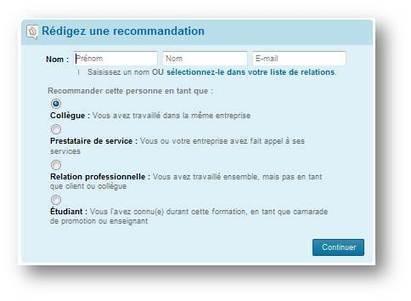 Comment obtenir une recommandation sur Linkedin ou Viadeo? | Time to Learn | Scoop.it