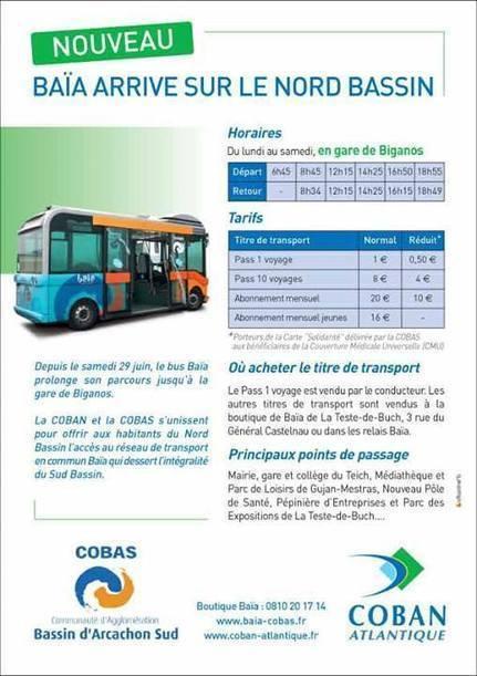 Nouveau : le bus Baïa arrive sur le Nord Bassin | Le Bassin d'Arcachon | Scoop.it