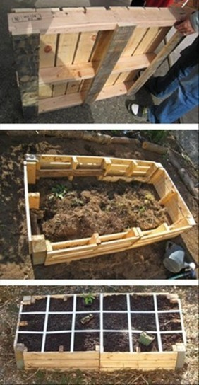 Build a raised bed garden using pallets | Backyard Gardening | Scoop.it