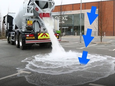 This 'Thirsty' Concrete Absorbs 880 Gallons Of Water A Minute — Here's How It Works | Strange days indeed... | Scoop.it